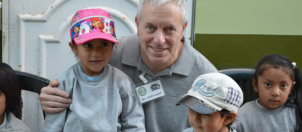 Dr. David Silbert in Ecuador with Students